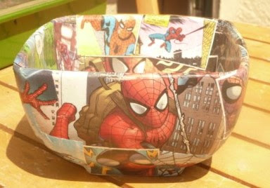 Whoopidooings: Carmen Wing Spider-Man decoupaged Bowl