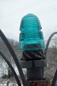 old glass insulators will capture the sun