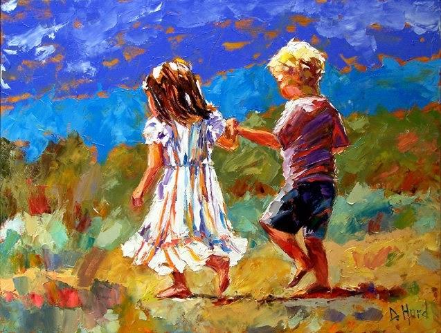 Debra hurd original paintings and jazz art oil painting for Paintings of toddlers
