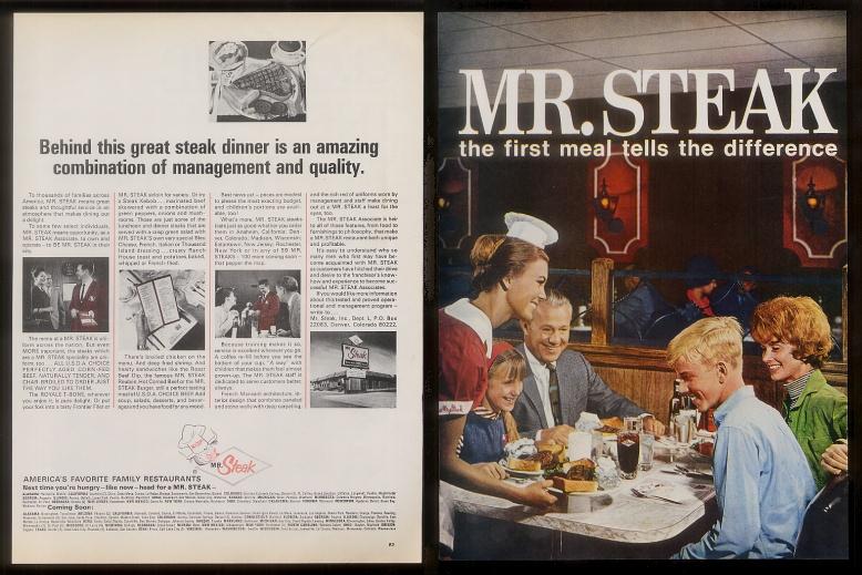 Mr Steak Franchise Publication Probably Late 60 S