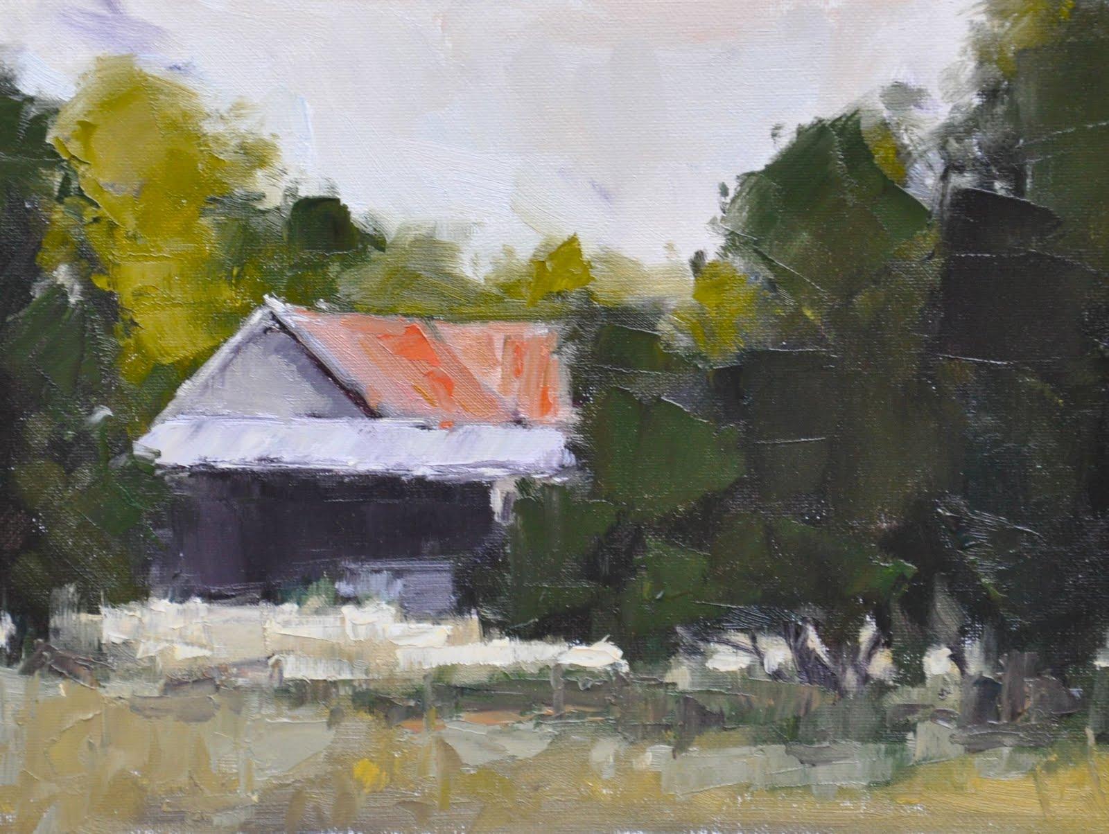 Old Farmhouse Painting Old farmhouse  6 x 8Old Farmhouse Painting
