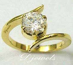 Solitare Diamond Ladies Ring