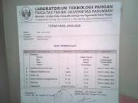Hasil Uji  Lab Madu Hutan Iman (Universitas Pasundan)