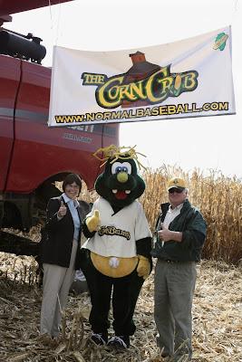 cornbelters baseball farm harvest combine