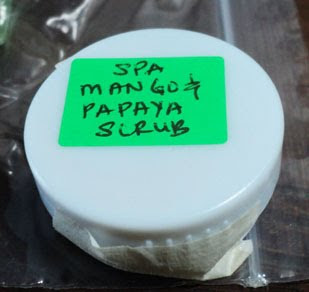 Spa Ingredients Mango & Papaya Scrub sample jar