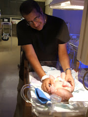 Daddy and Cole on the day Cole was born