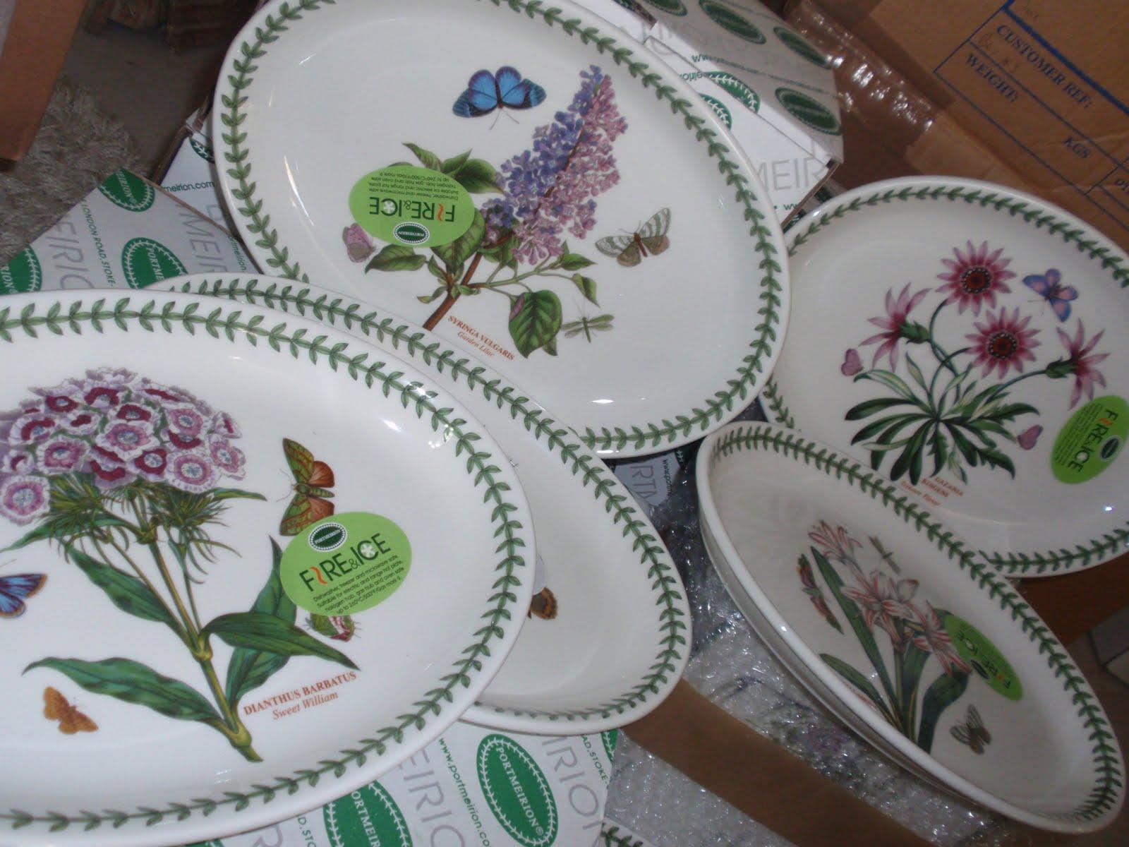 What do your everyday dishes look like mumbo jumbo gumbo for Portmeirion dinnerware set of 4 botanic garden canape plates