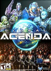 Global Agenda is a fast-paced action MMO using Unreal Engine 3 set in Earth's near future, a spy-fi world of advanced technology and player-driven conflict. In the wake of severe global disaster, the political face of 22nd century earth has changed and player-created factions scheme against each other for power. Traditional full-scale wars a thing of the past, factions must rely on covert agencies, teams of elite special operatives able to seize and defend key facilities. The future of humanity is their battleground, where knowledge is power, technology is a race, and everyone has an agenda. The players control the world of Global Agenda, forging alliances with their peers and executing lightning strikes against their enemies. They determine which factions to aid and which to oppose, while the only thing that stands in their way is other agencies.