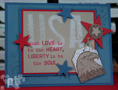 Stampin Up Free & The Brave Independence Day Well Worn Alphabet Eagle Patriotic America USA