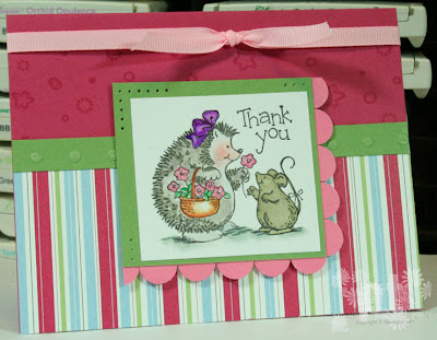 stampin up hedgehog happiness airbornewife scallop ribbon cutie pie designer series paper