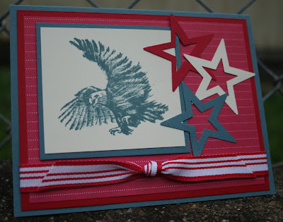 patriotic eagle stamping stampin up airbornewife