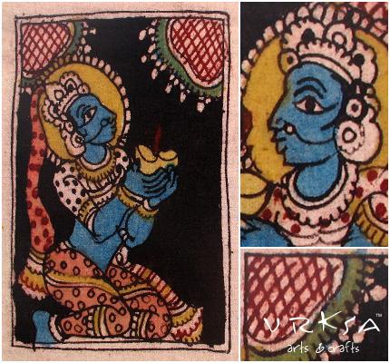 Vrksa Arts Crafts Kalamkari Indian Traditional Art Andhra