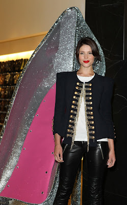 Gemma Arterton In Tight Leather Leggings