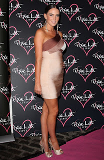 Danielle Lloyd at the Pixie Lott Lipsy Party