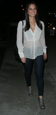 Olivia Munn In A See-Thru Top