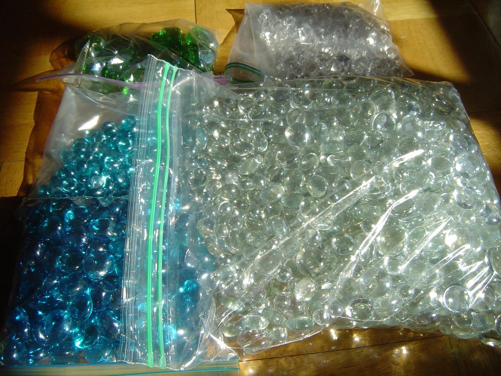 DIY TIFFANY BLUE WEDDING Filler Stones For Centerpieces