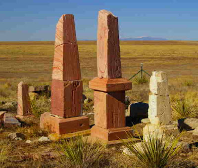 The little graveyard at Doyle on the Huerfano River. Photo copyright Chas S. Clifton. January 2009