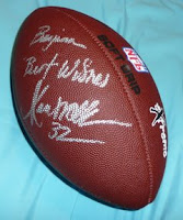 Hall-of-Famer Marcus Allen autographed football