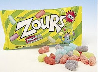 Zours sour candy
