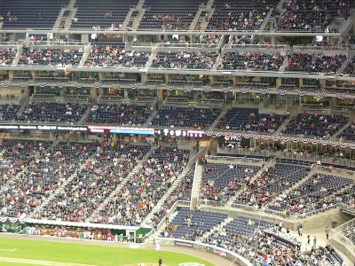Sparse crowd at Washington Nationals Park