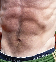 Eight percent body fat abdominal display