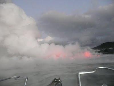 Kilauea Volcano lava on the Big Island
