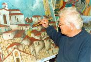 Ο Βαγγελης Ιωαννου ζωγραφιζει το Αυλωναρι