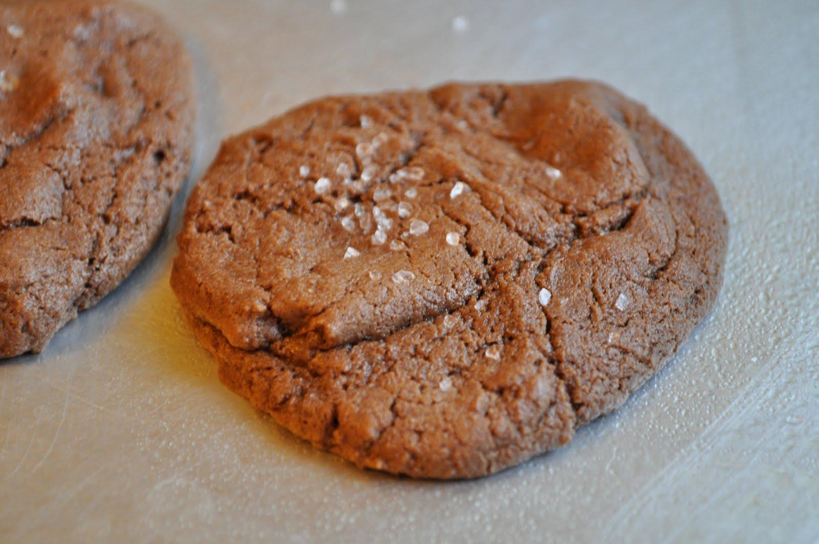 Crusts and Crumbs: Chocolate Caramel Cookies with Sea Salt