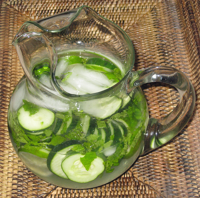 cucumber mint and basil soda recipes dishmaps cucumber mint and basil ...