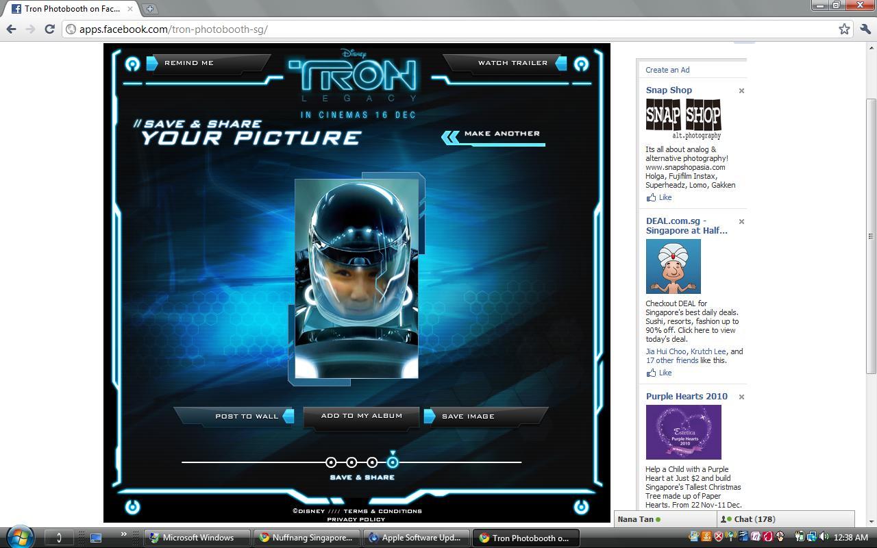 Videomonatje tu cara en Tron Legacy