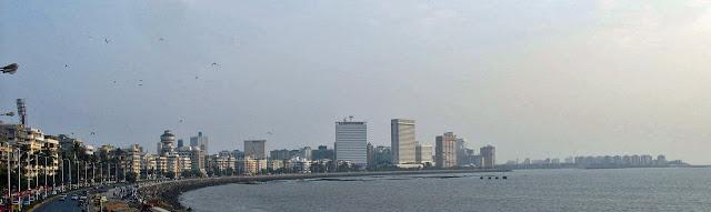 close-up of Nariman Point buildings in Mumbai, India