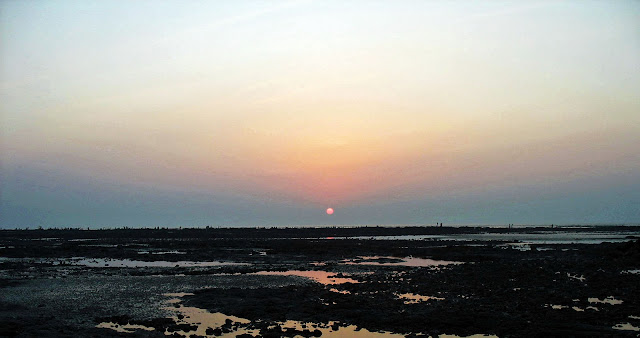Daman beach sunset