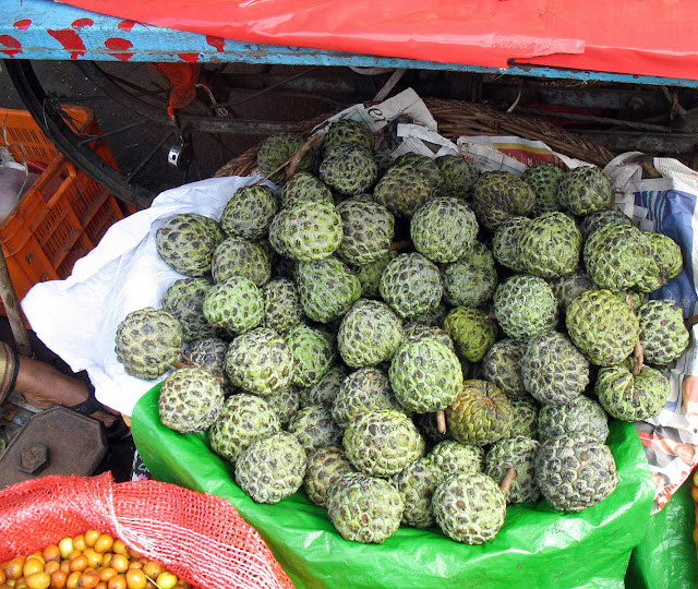 custard apples in basket