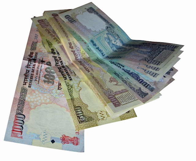 high value rupee notes cutout