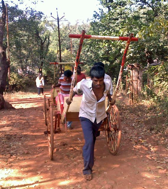 empty hand-pulled rickshaw