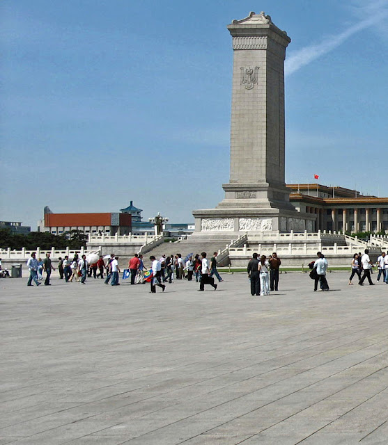 tiananment square with tourists