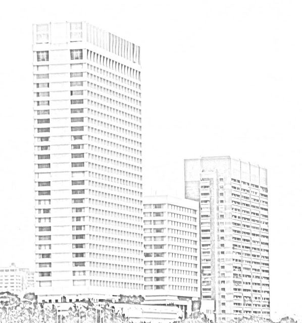 sketch of Oberoi Towers Mumbai