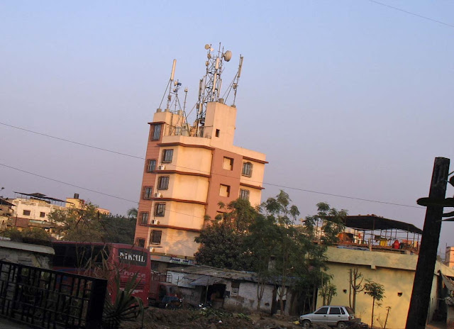 cell phone towers on residential building