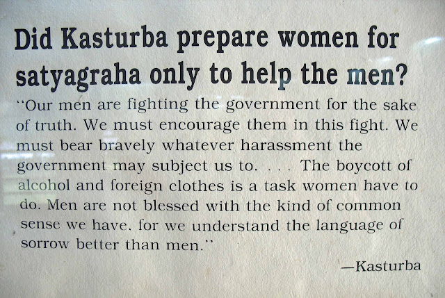 kasturba gandhi quote