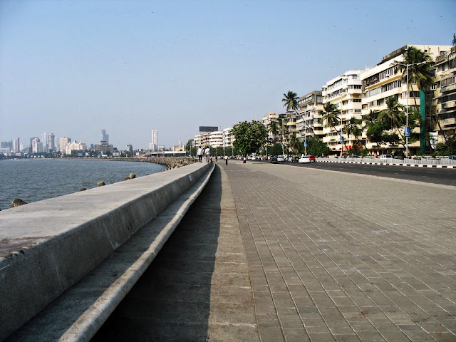 Marine Drive with a view of Worli