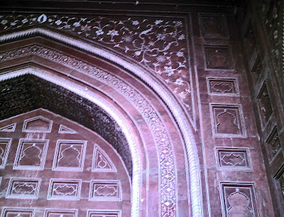 plant motifs on Taj doorway