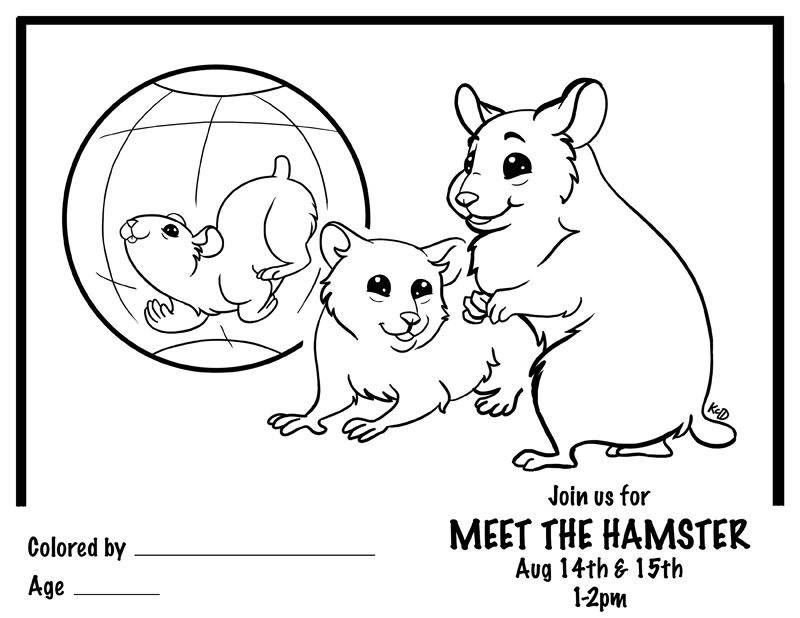 Here's a coloring sheet I just finished for my local Petco store;