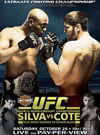Watch UFC 90 Silva vs Cote Online Live Streaming Free Video
