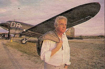 Major Richard L. Felman on the Pranjani airstrip upon his return to Serbia in 1995