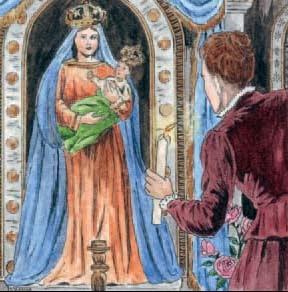 Doña Luisa pudo comprobar cómo la Virgen Santísima nunca abandona a los que la abandonan