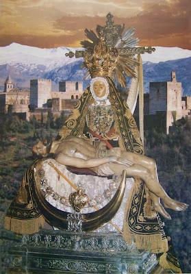 Ntra. Sra. de las Angustias, patrona de Granada y la Archidiocésis.