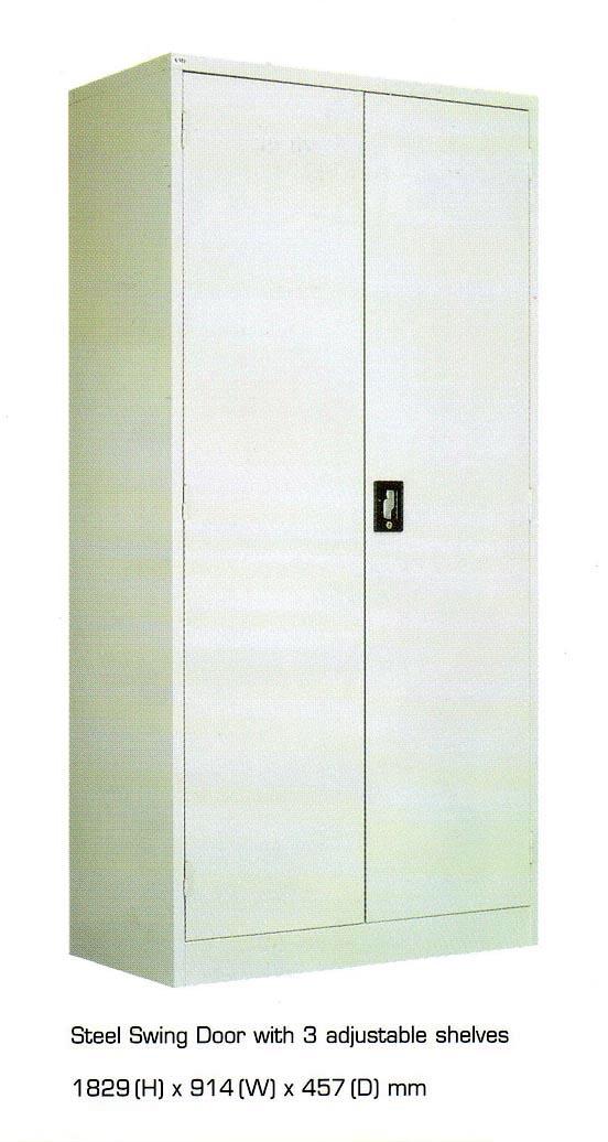 km203 2 door half height metal