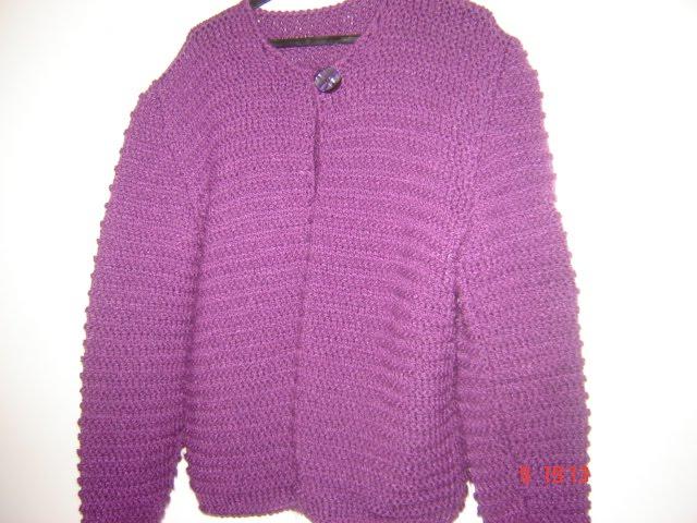 casaco em tricô