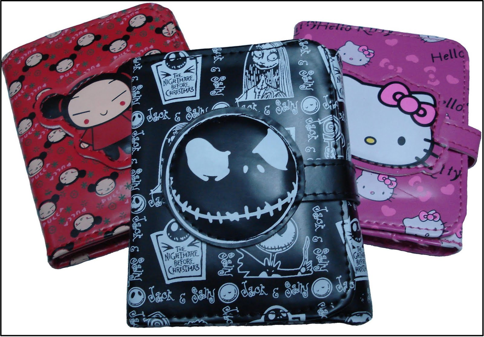 Billeteras de: Pucca, Hello Kitty y Jack.