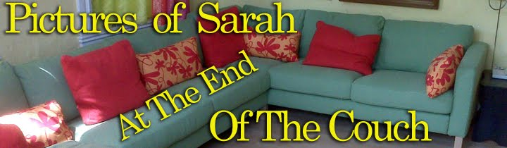pictures of sarah at the end of the couch